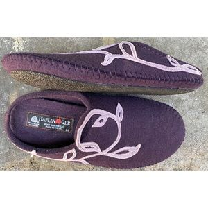 Haflinger Purple Wool Slippers